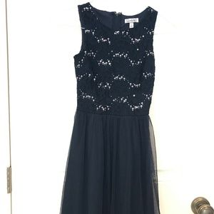 Formal Navy Dress. Size 1 in juniors. Worn ONCE.